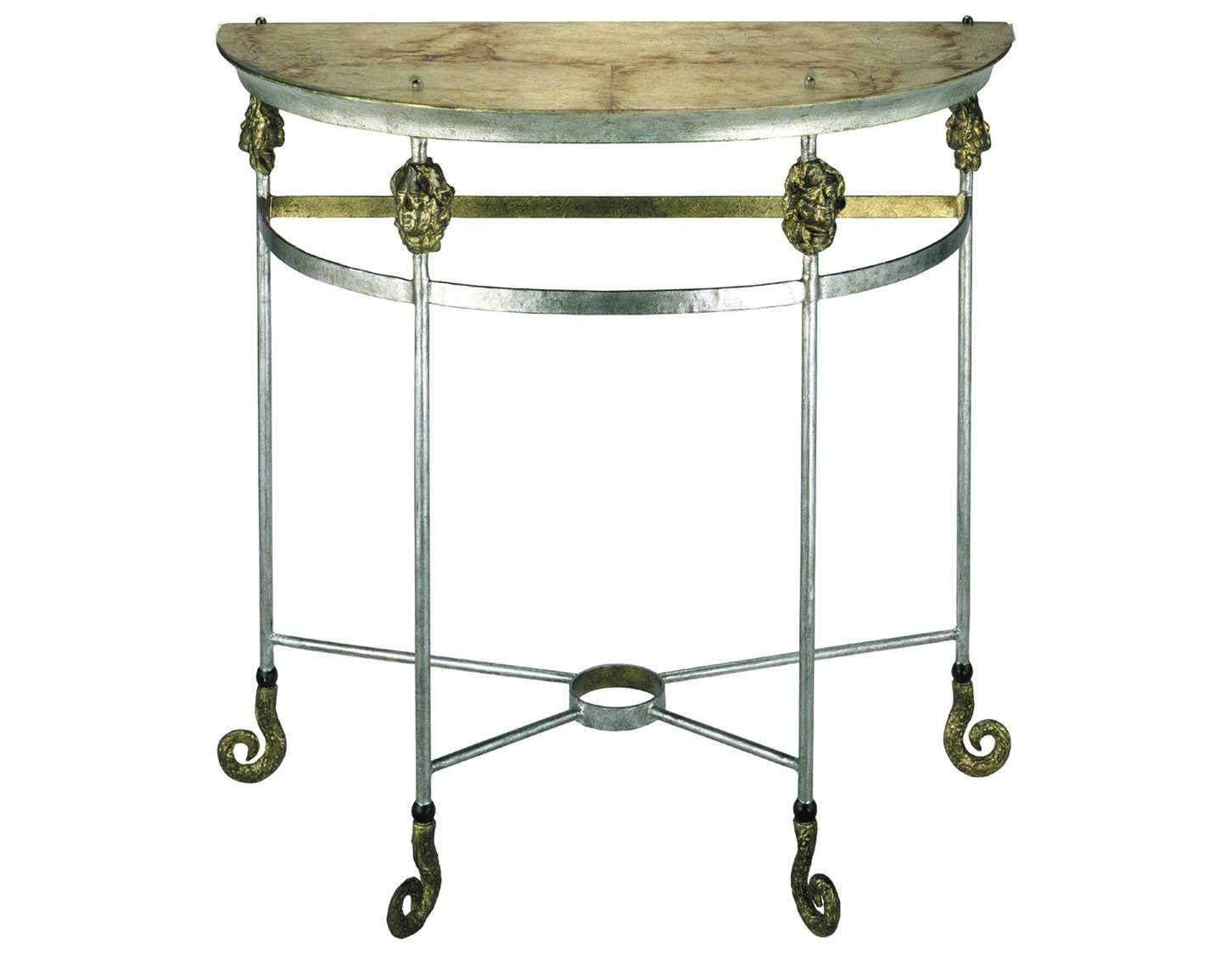 Flambeau armory 15 x 35 demi lune console table flcon1050 for 35 console table