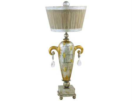 Flambeau Amphor Luxe Silver & Gold Buffet Lamp