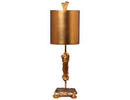 Flambeau Ionic Fragment Gold Table Lamp