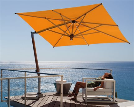 FIM C-Series Aluminum 9.5' Square Cantilever Umbrella