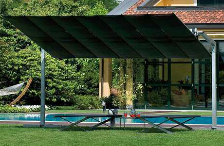 FIM Flexy Aluminum 10' x 12' Rectangular Offset Umbrella PatioLiving