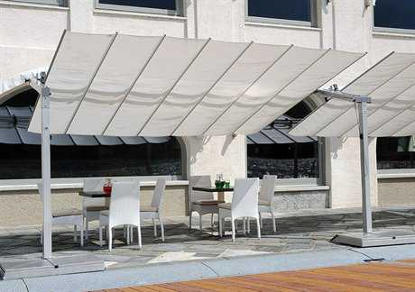 FIM Flexy Aluminum 10' x 16' Rectangular Offset Umbrella