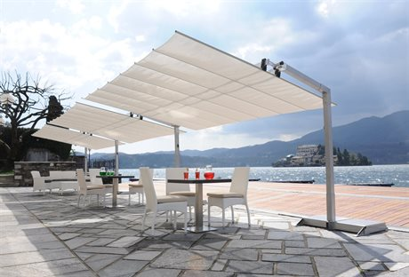 fim flexy aluminum 8 x 12 rectangular offset umbrella - Rectangle Patio Umbrella