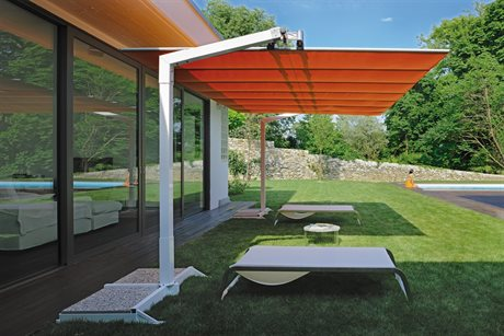 FIM Flexy Aluminum 8' x 14' Rectangular Offset Umbrella