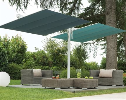 FIM Flexy Twin Aluminum 8' X 17' Rectangular Offset Umbrella