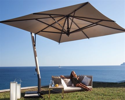 FIM P-Series Aluminum 11.5 Square Cantilever Umbrella PatioLiving