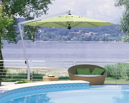 FIM P  Series Aluminum 13u0027 Octagon Cantilever Umbrella
