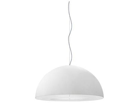 Fontana Arte Avico White Three-Lights 47'' Wide Pendant Light