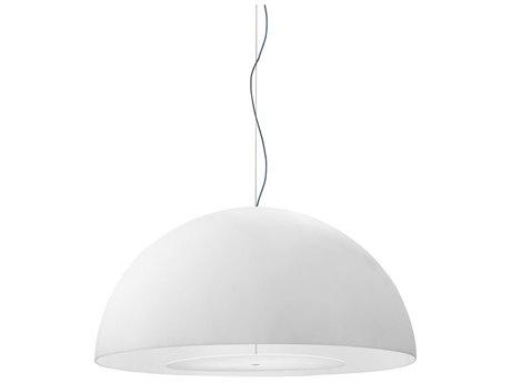 Fontana Arte Avico White Three-Lights 63'' Wide Pendant Light
