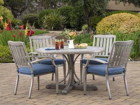Foremost Casual Tanglewood TeraFab 5 Piece Dining Set in Olefin Blue