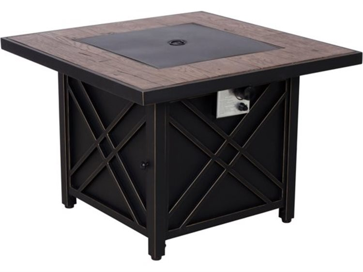 Foremost Casual Darwin 34.5 Inches Square Black Steel Fire Pit |  505105F170262