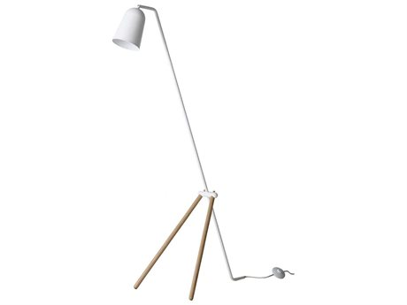 Frandsen Giraffe White & Oak Floor Lamp