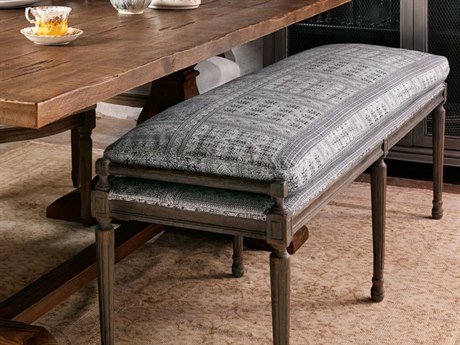 Four Hands Abbott Batik Indigo Lucille Dining Bench