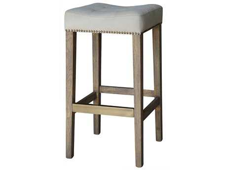 Four Hands Ashford Desert Canvas Sean Barstool With Kickplate