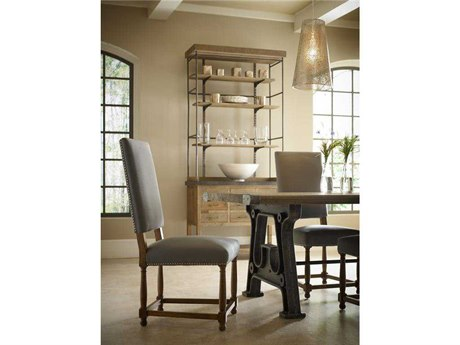 Four Hands Ashford Gray Linen Connor Dining Side Chair