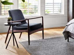 Ashford Modern Velvet Shadow / Warm Cedar Accent Chair