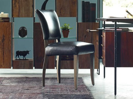 Four Hands Carnegie Old Saddle Black/Weathered Oak Mimi Dining Chair