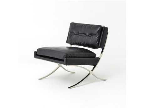 Four Hands Carnegie Old Saddle Black Heathrow Lounge Side Chair