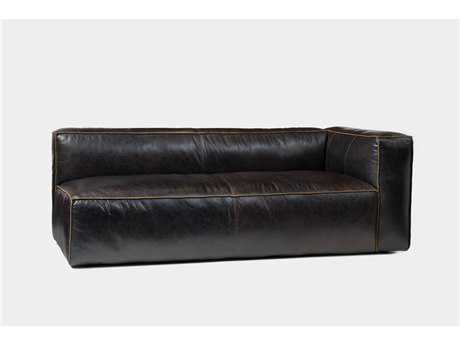 Four Hands Carnegie Old Saddle Black Nolita Sectional Right Facing Sofa