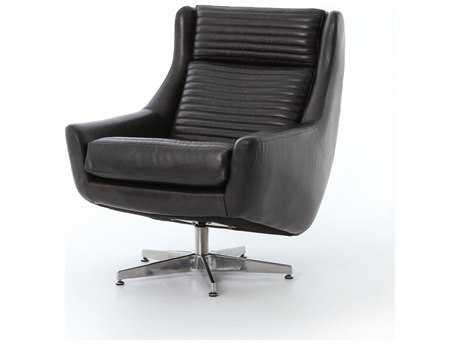 Four Hands Carnegie Rider Black Charles Swivel Chair