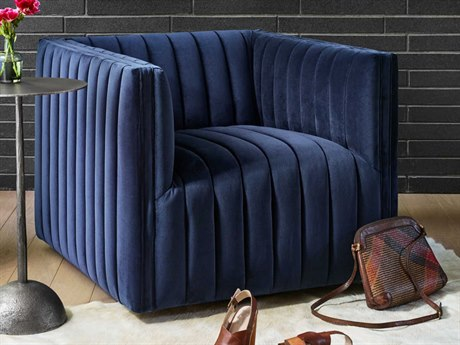Four Hands Grayson Sapphire Navy Swivel Accent Chair