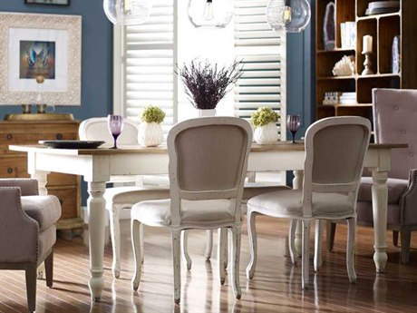 Four Hands Hughes 87 x 40 Rectangular Bleached Pine Charlie Dining Table