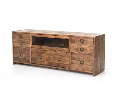 Four Hands Hughes 69 x 19 Bleached Pine Media Console