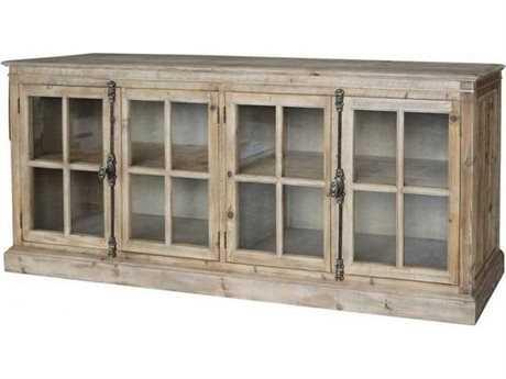 Four Hands Hughes Annex 87 x 20 Rectangular Bleached Pine Monaco Sideboard
