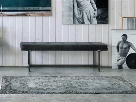 Four Hands Irondale Rialto Ebony / Waxed Black Accent Bench