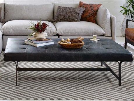 Four Hands Irondale Waxed Black / Rialto Ebony 63'' Wide Rectangular Coffee Table FSCIRD294
