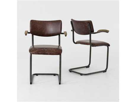 Four Hands Irondale Havana/Waxed Black/Drifted Oak Quinn Dining Chair