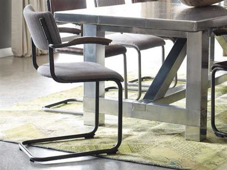 Four Hands Irondale Gray Twill/Waxed Black/Drifted Oak Quinn Dining Chair