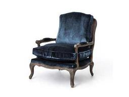 Four Hands Irondale Cut Blue Pile Boutique Accent Arm Chair