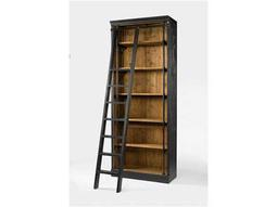 Four Hands Irondale 39 x 18 Rectangular Matte Black Ivy Bookcase And Ladder