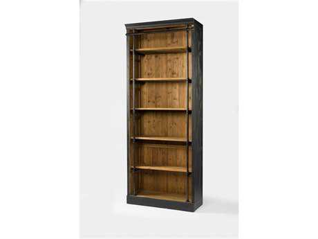 Four Hands Irondale 39 x 18 Rectangular Matte Black Ivy Bookcase