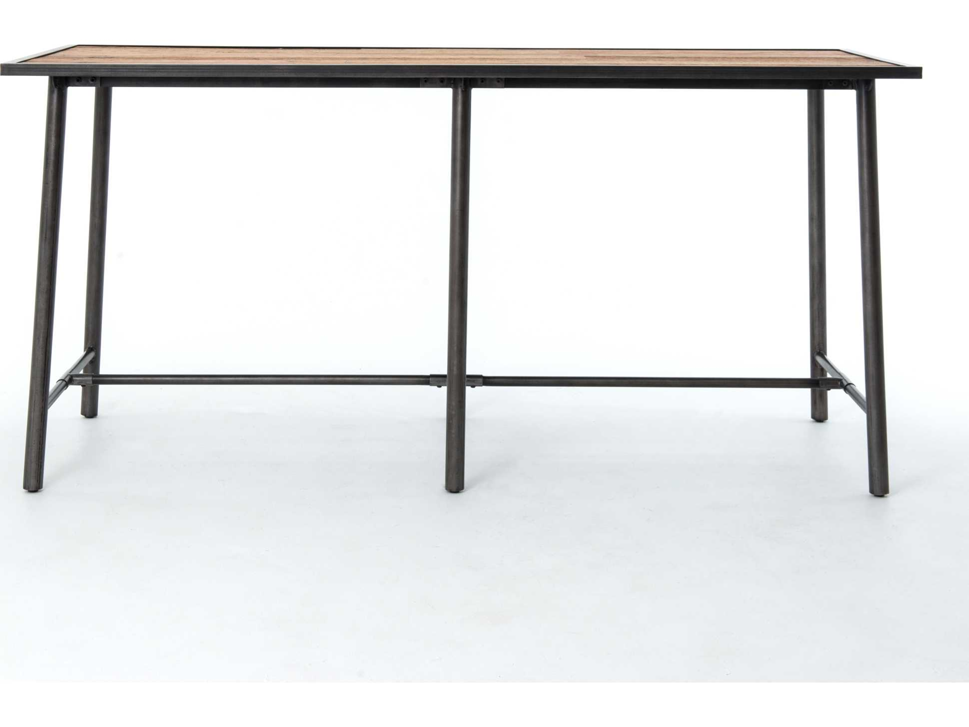 Four Hands Irondale Washed Old Oak 86 5 X 35 75 Rectangular Duke Bar Table