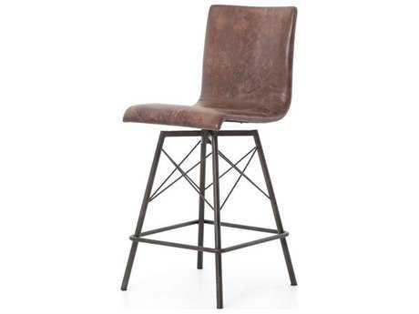 Four Hands Irondale Waxed Black Diaw Counterstool