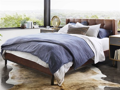 Four Hands Kensington Vintage Tobacco / Gunmetal King Platform Bed