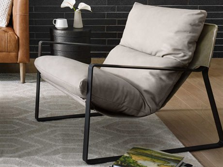 Four Hands Kensington Gunmetal / Umber Natural Accent Chair
