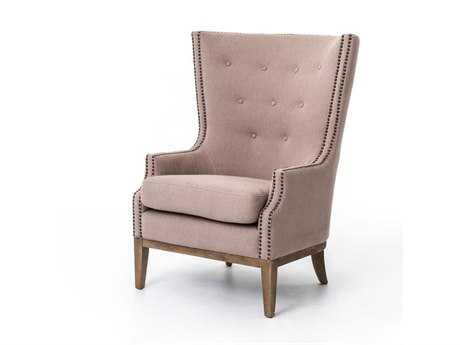 Four Hands Kensington Gray Chevron Lillian Occasional Chair