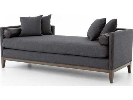 Four Hands Kensington Charcoal Mercury Double Chaise