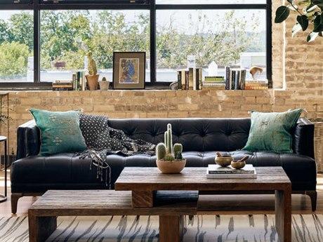 Four Hands Kensington Rider Black (osb) / Aspen Grey Sofa Couch FSCKENF7C396