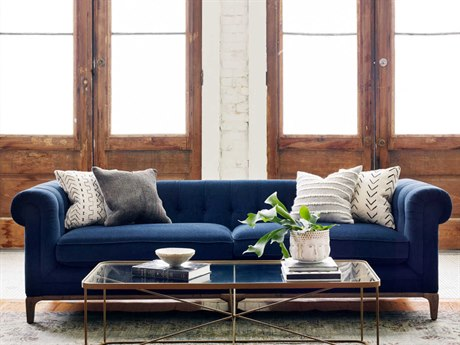 Four Hands Kensington Griffon Plush Navy Sofa