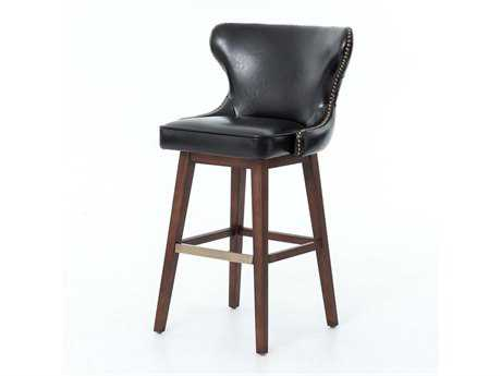 Four Hands Metro Black Julie Swivel Barstool
