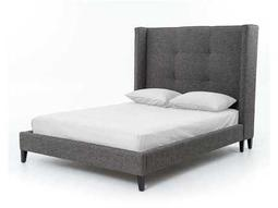 Four Hands Metro Charcoal Madison Upholstered Queen Platform Bed