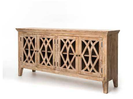 Four Hands Saviano 80 x 20 Rectangular Dogwood Azalea Sideboard With 4 Doors