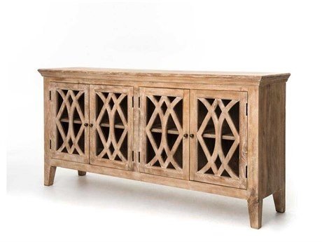 Four Hands Saviano 80 x 20 Rectangular Dogwood Azalea Sideboard With 4 Doors