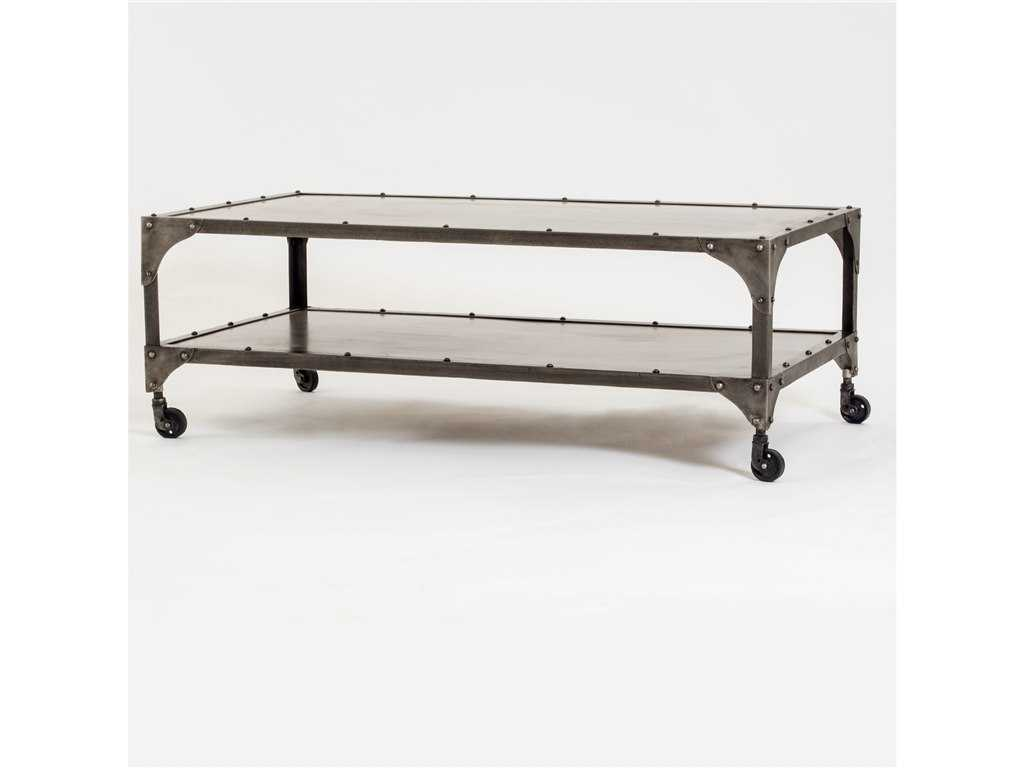 Four Hands Element 49 X 28 Rectangular Antique Nickel Coffee Table Fsiele49nklant