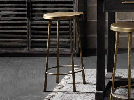 Four Hands Element Antique Brass Side Counter Height Stool FSIELE94