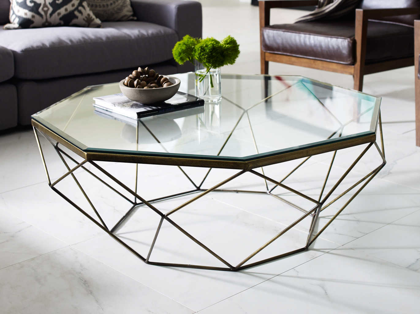- Four Hands Marlow 44''L X 40'' Wide Octagon Coffee Table